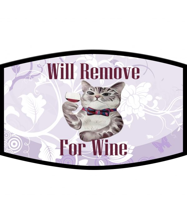 Fask Mask - 3 Layer - Cat Will Remove For Wine