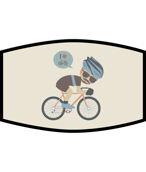 Face Mask - 3 Layer - Cycling Dude - Beige