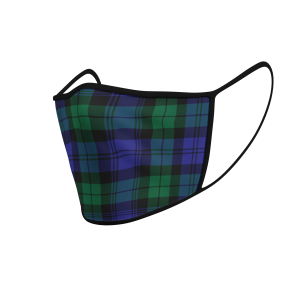 Face Mask Black Watch Modern Tartan - Product 3D