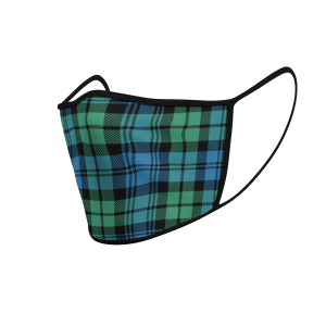 Face Mask Campbell Ancient Tartan - Product 3D