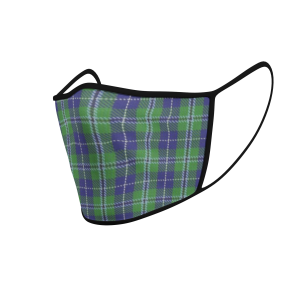 Face Mask Douglas Tartan - Product 3D