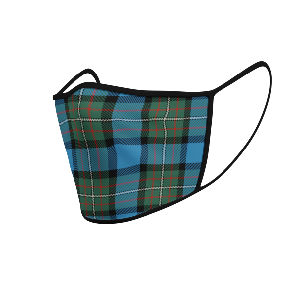 Face Mask Fergusson Ancient Tartan - Product 3D
