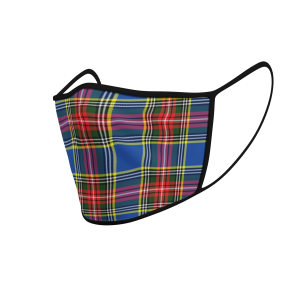 Face Mask Macbeth Modern Tartan - Product 3D