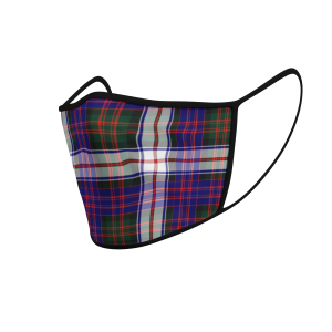 Face Mask Macdonald Dress Tartan - Product 3D