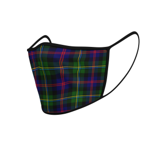 Face Mask Malcolm Modern Tartan - Product 3D