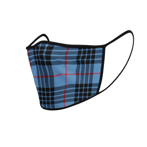 Face Mask McKay Blue Tartan - Product 3D