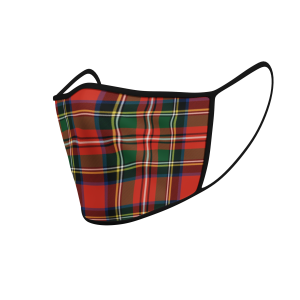 Face Mask - Stewart Tartan - Product 3D