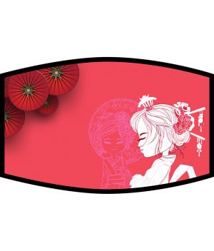 Face Mask - 3 Layer - Geisha Girl