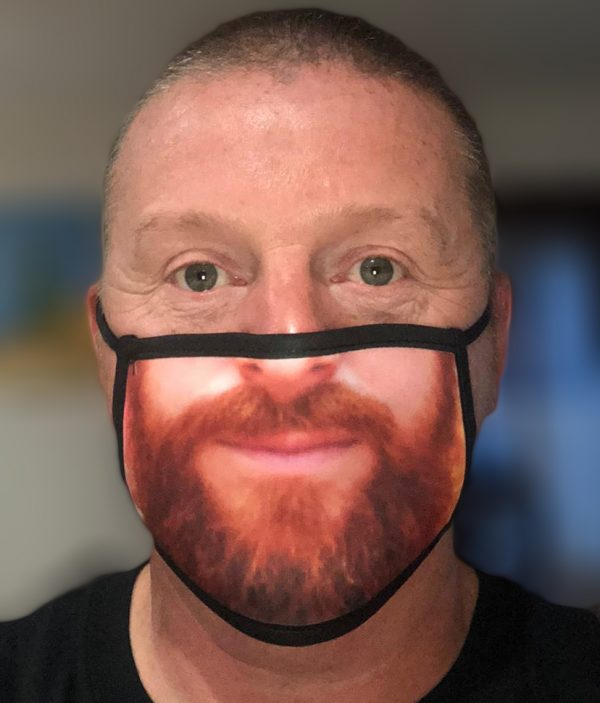 Fask Mask - 3 Layer - Ginger Beard - Person