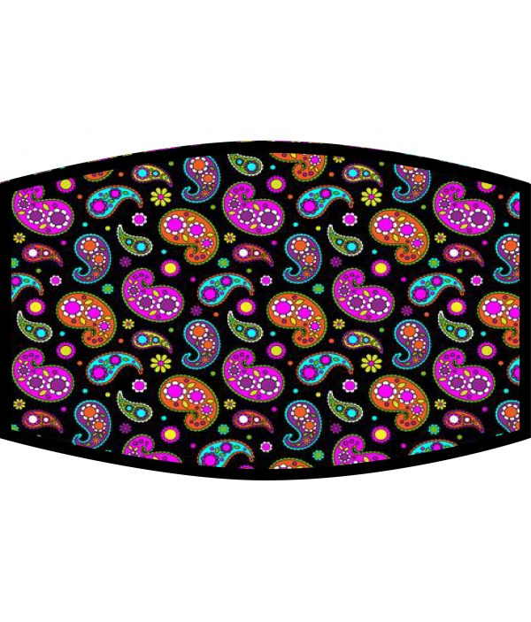 Fask Mask - 3 Layer - Paisley Pattern Vibrant