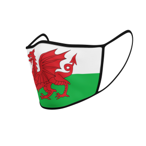 Face Mask - Wales Flag - Product 3D