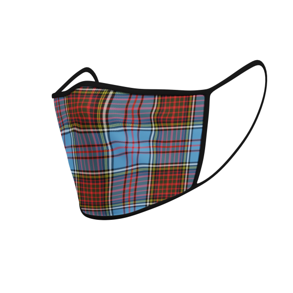 Face Mask - Anderson Tartan - Product 3D