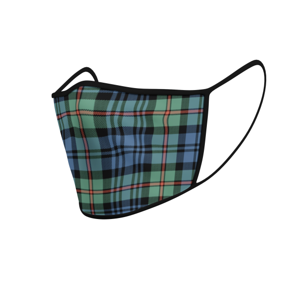 Face Mask - MacKinlay Ancient Tartan - Product 3D