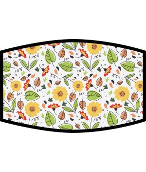 Face Mask - 3 Layer - Summer Flowers Pattern