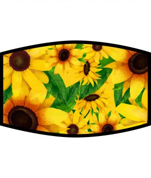 Face Mask - 3 Layer - Bright Sunflowers