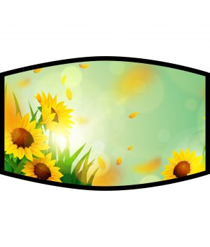 Face Mask - 3 Layer - Summer Breeze Sunflowers
