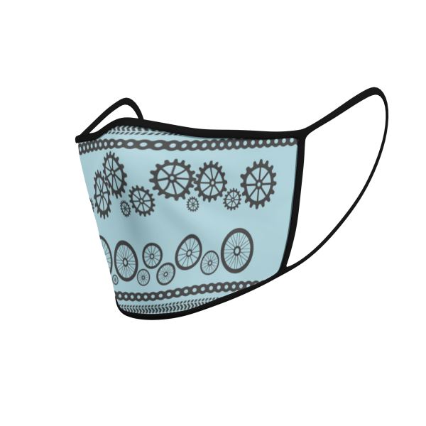 Face Mask - Cycling Wheels and Gears - 3D