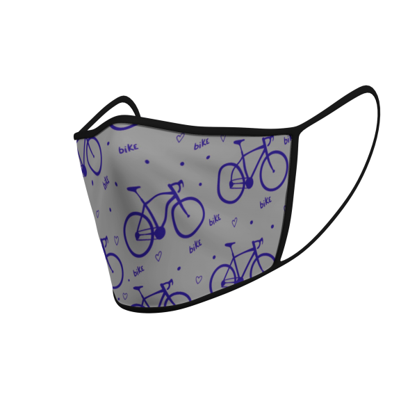 Face Mask - Love Cycling Pattern - 3D