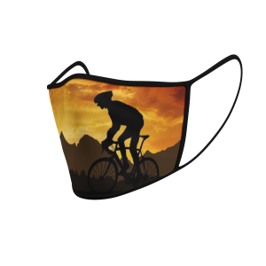 Face Mask - Cycling At Sunrise - 3D