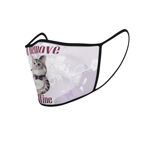 Face Mask - Cat Will Remove For Wine - Product 3D