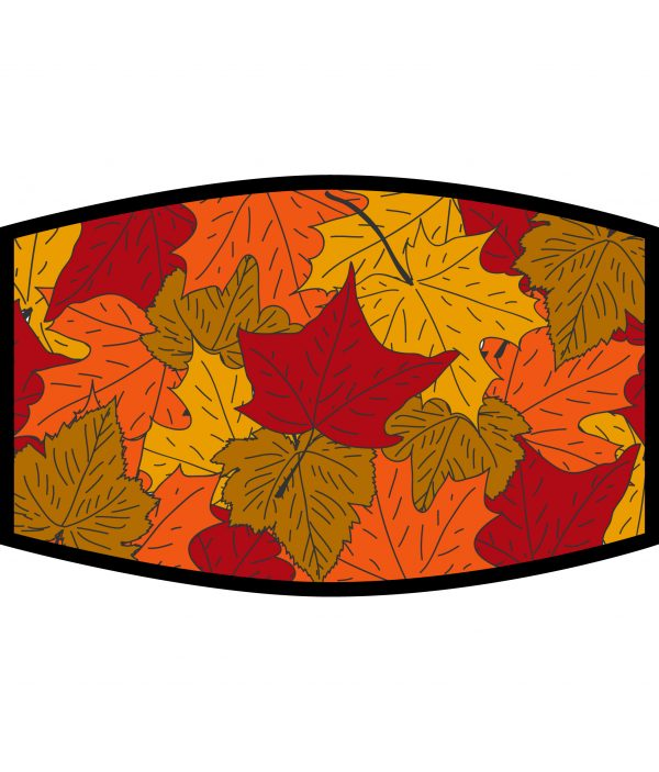 Face Mask - 3 Layer - Autumn Leaves