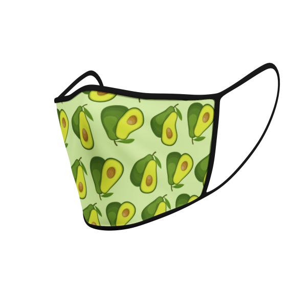 Face Mask - 3 Layer - Avocado - 3D