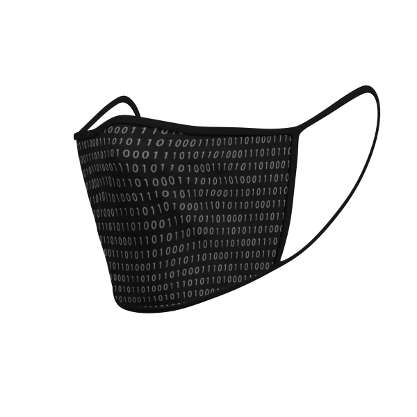 Face Mask - 3 Layer - Binary Grey - 3D