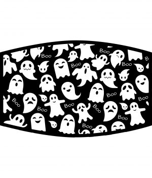Face Mask - 3 Layer - Ghost Boo