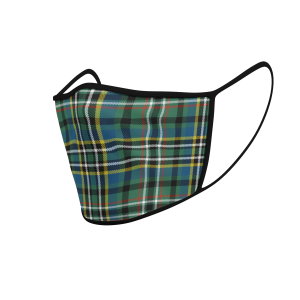 Face Mask Scott Green Ancient Tartan - Product 3D