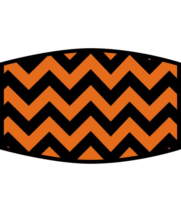 Face Mask - 3 Layer - ZigZag Orange And Black